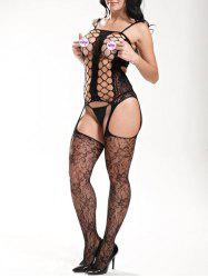 Fishnet Hollow Out Slip Bodystockings -
