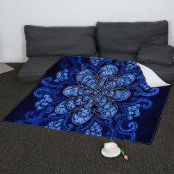 Coral Fleece Flower Pattern Blanket -