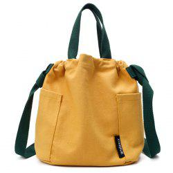 Convertible Canvas Pockets Drawstring Bag -