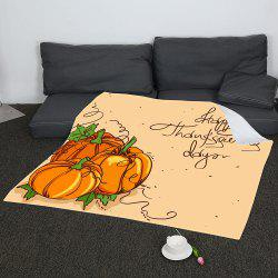 Coral Fleece Thanksgiving Pumpkin Pattern Blanket -