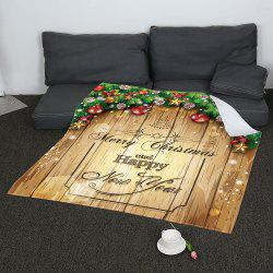 Merry Christmas Printed Soft Coral Fleece Blanket -