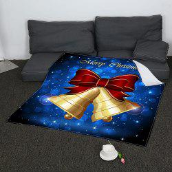 Coral Fleece Christmas Bell Printed Blanket - COLORFUL W31 INCH*L59 INCH