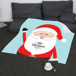 Father Christmas Pattern Soft Coral Fleece Blanket -