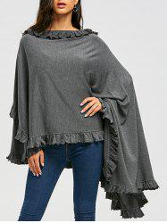 High Low Ruffle Convertible Coat -