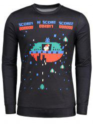 Long Sleeve Cartoon Game Pattern T-shirt -