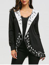 Music Notes Shawl Collar Cardigan -