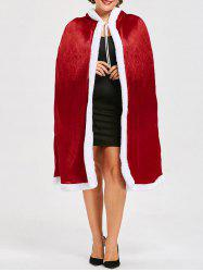 Cape Santa Claus Christmas Plus Size -