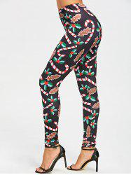 Christmas Graphic Skinny Leggings -