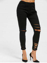 Skinny Distressed Jeans -