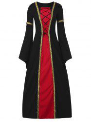 Bell Sleeve Long Queen Costume Dress -