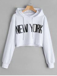 New York Cropped Tunic Hoodie -