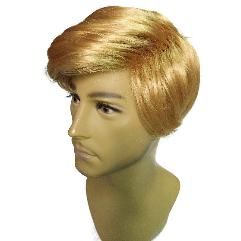 Fancy Side Parting Short Straight President Donald Trump Cosplay Man Wig