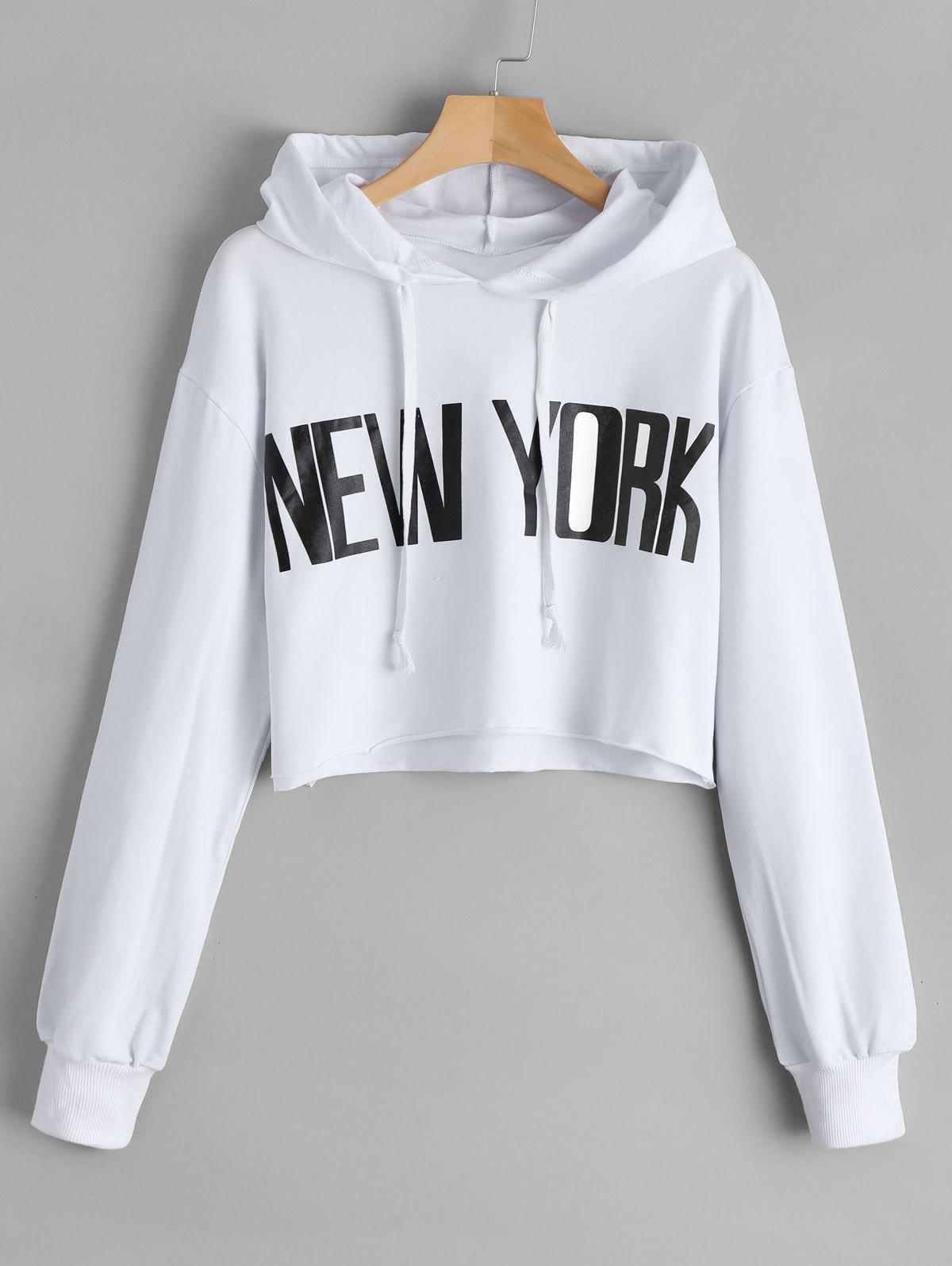 Fashion New York Cropped Tunic Hoodie