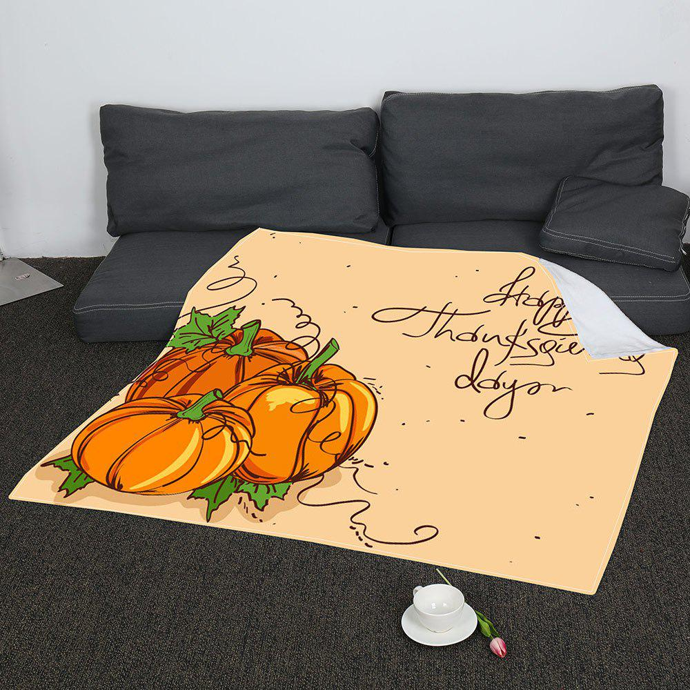 Latest Coral Fleece Thanksgiving Pumpkin Pattern Blanket