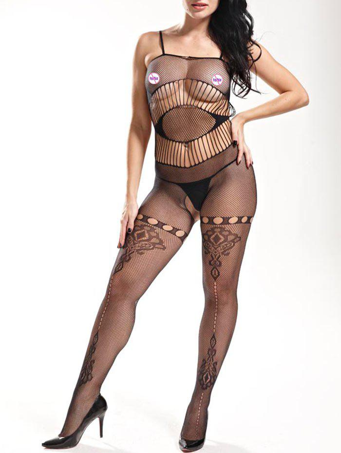 Trendy Slip Fishnet Lingerie Bodystockings