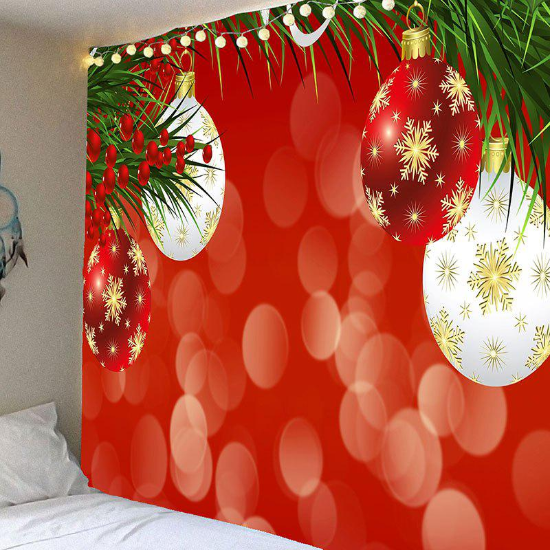 Wall Art Snowflake Christmas Balloons Waterproof Hanging TapestryHOME<br><br>Size: W91 INCH * L71 INCH; Color: COLORFUL; Style: Festival; Theme: Christmas; Material: Velvet; Feature: Removable,Waterproof; Shape/Pattern: Leaf,Print; Weight: 0.4200kg; Package Contents: 1 x Tapestry;