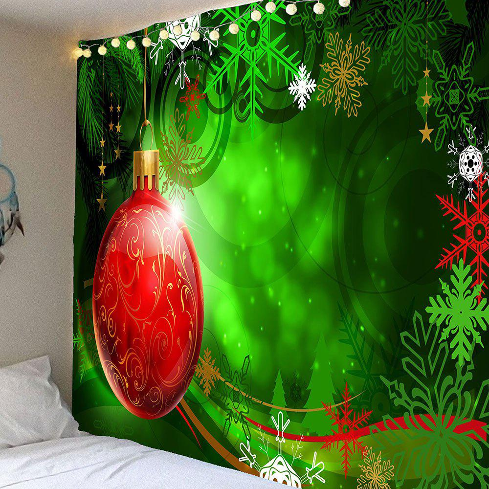 Christmas Balloon Snowflake Printed Hanging Waterproof TapestryHOME<br><br>Size: W91 INCH * L71 INCH; Color: COLORFUL; Style: Festival; Theme: Christmas; Material: Velvet; Feature: Removable,Waterproof; Shape/Pattern: Print; Weight: 0.4200kg; Package Contents: 1 x Tapestry;