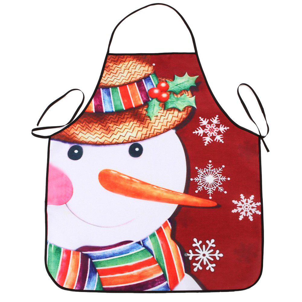 Christmas Snowman Snowflake Print Waterproof Kitchen ApronHOME<br><br>Size: 80*70CM; Color: COLORMIX; Type: Apron; Material: Polyester; Weight: 0.0800kg; Package Contents: 1 x Apron;
