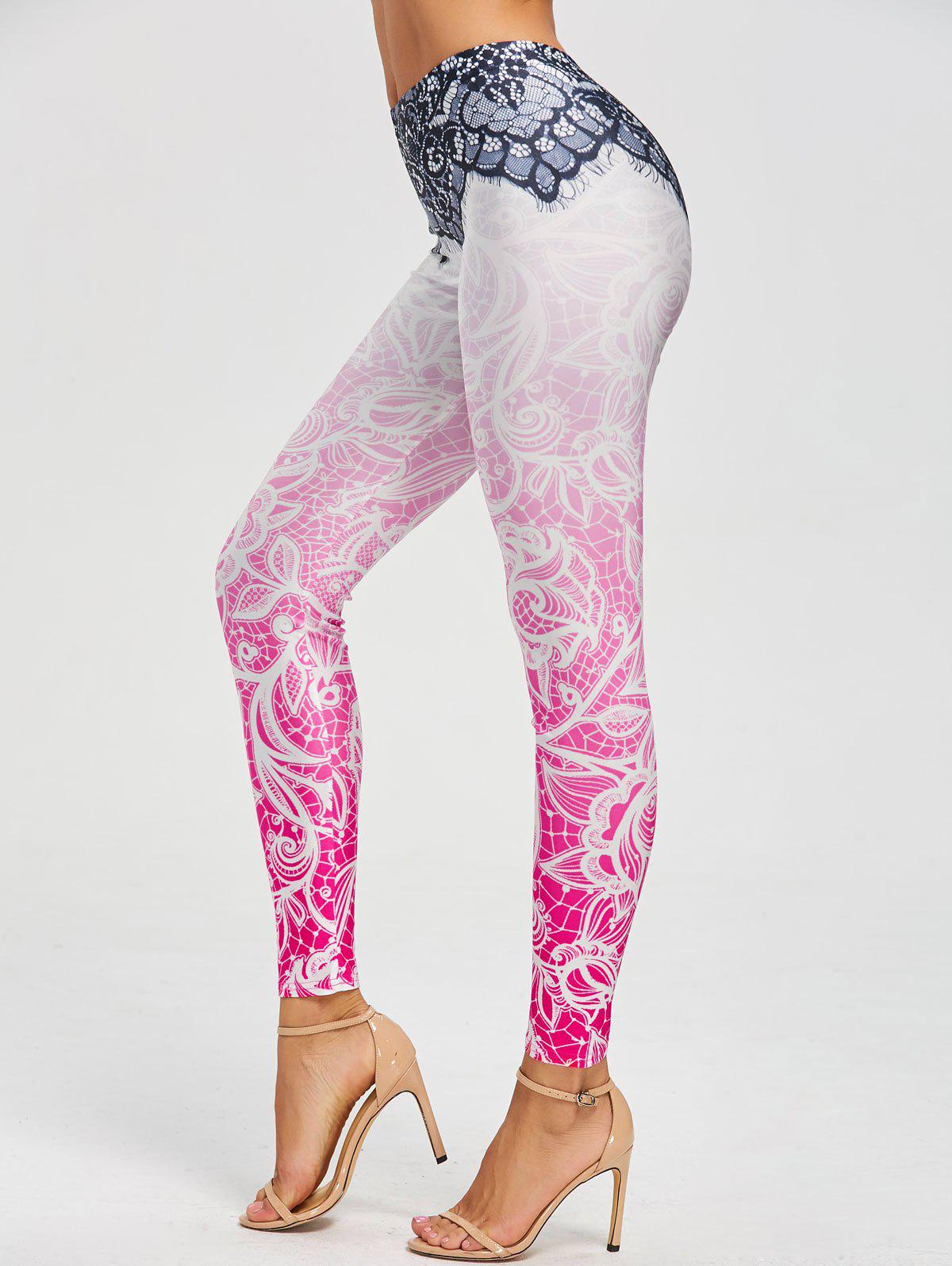Skinny Bohemian Print LeggingsWOMEN<br><br>Size: S; Color: COLORMIX; Style: Fashion; Material: Polyester,Spandex; Waist Type: Mid; Pattern Type: Print; Weight: 0.2300kg; Package Contents: 1 x Leggings;