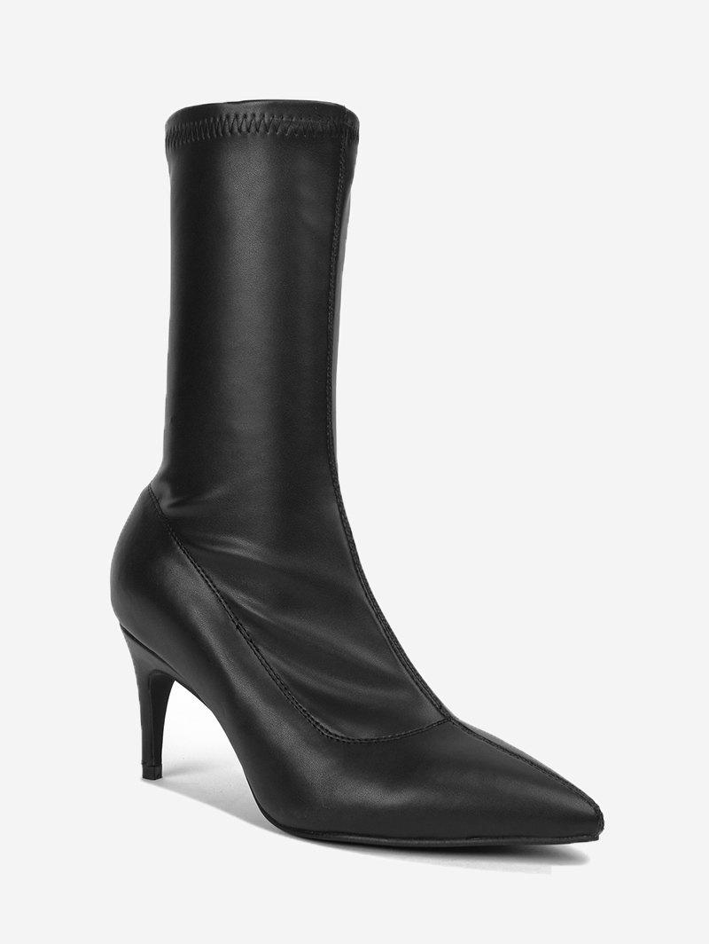 Outfit Pointed Toe Mid Calf Boots
