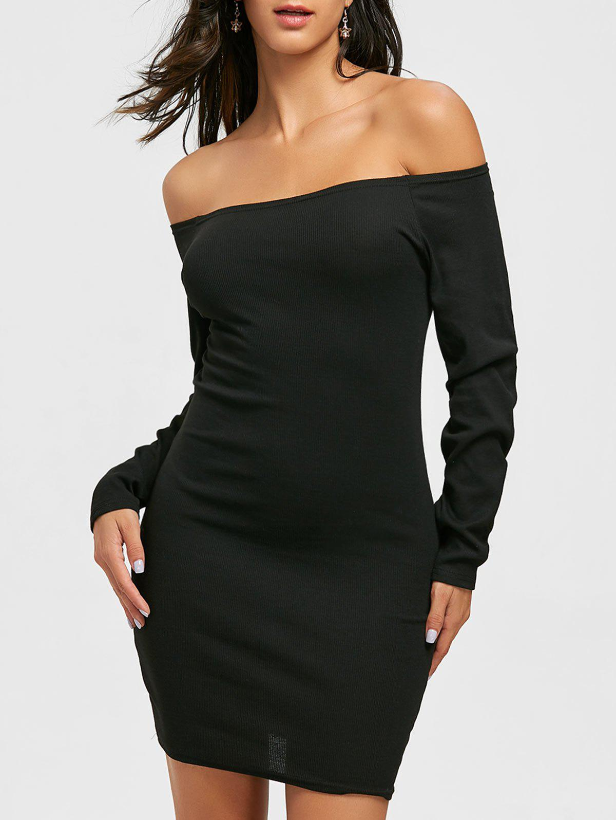 Online Off The Shoulder Mini Bodycon Dress