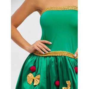 Pompom Bandeau Holiday Costume Dress -