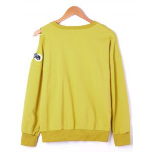 Plus Size Side Bowknot Embellished Sweatshirts -