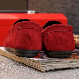 Chaussures Mocassin Soft Sloe Faux Suede - Rouge 43