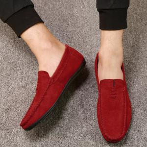 Chaussures Mocassin Soft Sloe Faux Suede - Rouge 44