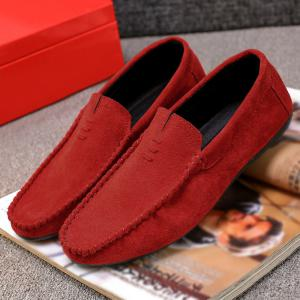 Chaussures Mocassin Soft Sloe Faux Suede - Rouge 42