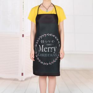 Merry Christmas Print Waterproof Kitchen Apron -
