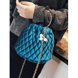 Faux Pearl Stitching Quilted Crossbody Bag -