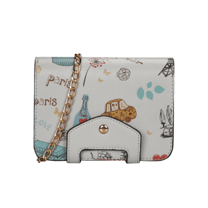 Chain Print Patchwork Crossbody Bag -