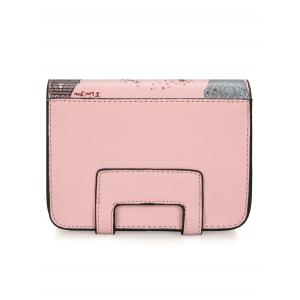 Chain Print Patchwork Crossbody Bag - PINK
