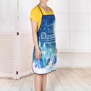 Christmas Night Gifts Print Waterproof Kitchen Apron -