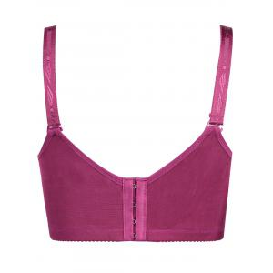 Plus Size Lace Wirefree Padded Bra - ROSE RED 9XL