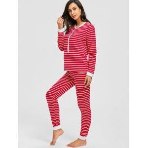 Long Sleeve Christmas Striped PJ Set -