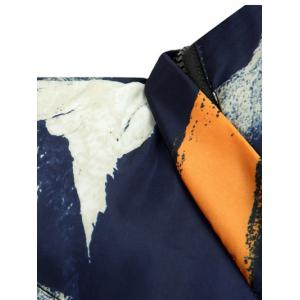Zip Up Camo Hooded Quilted Vest - DEEP BLUE 3XL