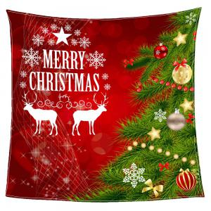 Christmas Tree Balls Patterned Coral Fleece Blanket - RED AND GREEN W47INCH*L59INCH