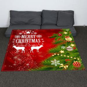Christmas Tree Balls Patterned Coral Fleece Blanket -