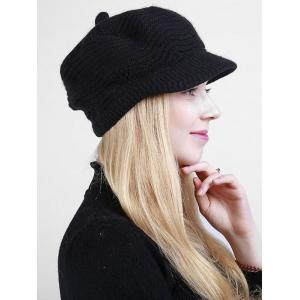Knitted Wave Shape Newsboy Hat -