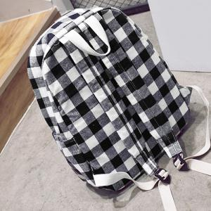 Canvas Plaid Backpack -