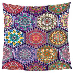 Bohemian Geometries Printed Coral Fleece Blanket - COLORFUL W47INCH*L59INCH