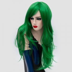 Long Side Bang Layered Slightly Curly Synthetic Party Wig -