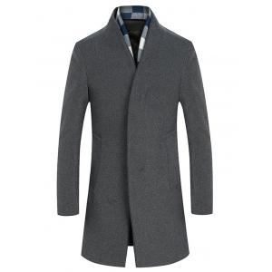 Single Breasted Longline Woolen Coat -