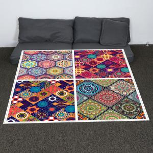 Coral Fleece Bohemian Geometries Pattern Blanket - COLORFUL W59 INCH * L79 INCH