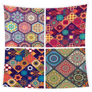 Coral Fleece Bohemian Geometries Pattern Blanket -