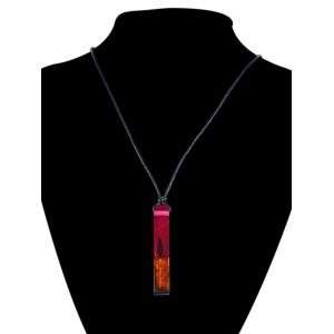 Resin Wooden Geometric Collarbone Pendant Necklace -