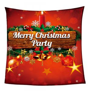 Colored Christmas Candle Pattern Coral Fleece Sofa Blanket - COLORFUL W59INCH*L70INCH