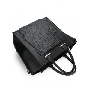Faux Leather Embossing Handbag -
